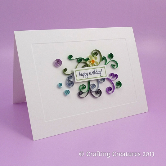 quilling, birthday card
